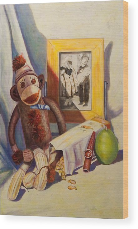 Children Wood Print featuring the painting I Will Remember You by Shannon Grissom