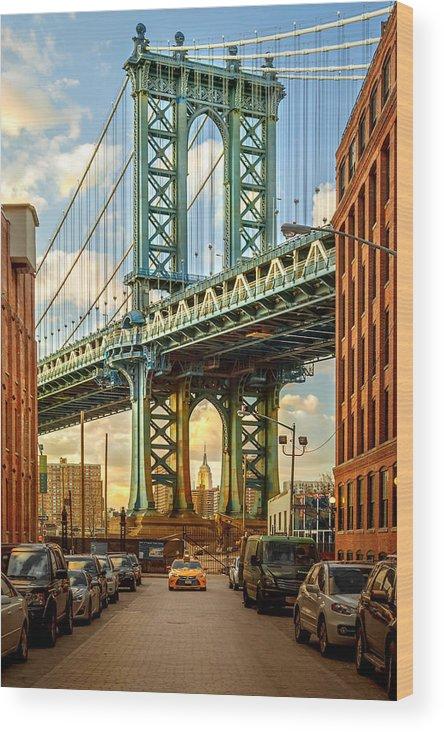 New York City Wood Print featuring the photograph Iconic Manhattan by Az Jackson