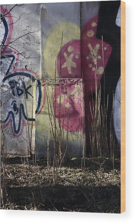 Urban Wood Print featuring the photograph In The Sticks by Kreddible Trout