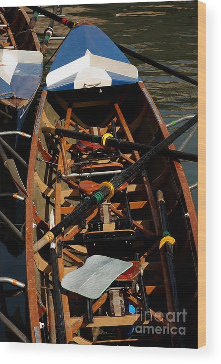 Boat Wood Print featuring the relief Inside Sail Boat by Michael Henderson
