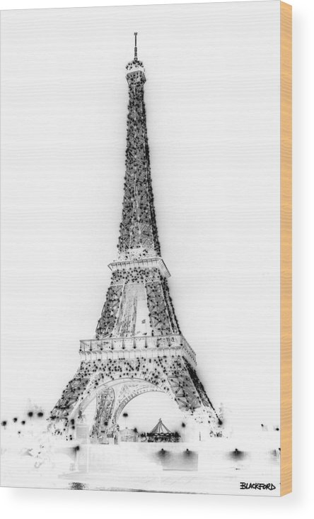 Eiffel Tower Wood Print featuring the photograph Inverted Eiffel Tower by Al Blackford