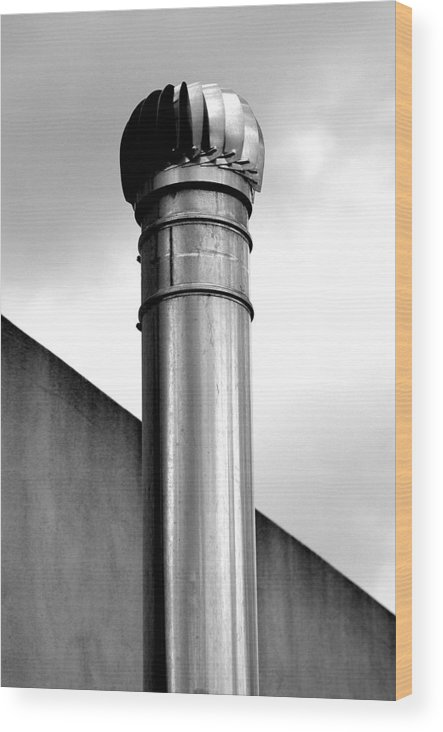 Chimney Wood Print featuring the photograph Iron Chimney by Marco Moscadelli
