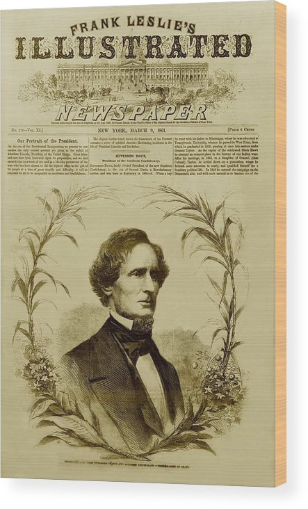 History Wood Print featuring the photograph Jefferson Davis 1808-1889, First by Everett
