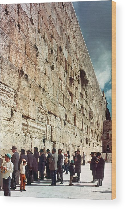 20th Century Wood Print featuring the photograph Jerusalem Wailing Wall - To License For Professional Use Visit Granger.com by Granger