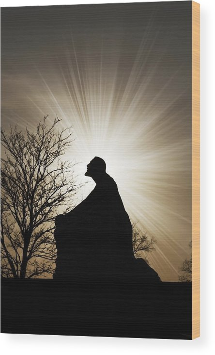Jesus Wood Print featuring the photograph Jesus Is The Light by Jeramie Curtice