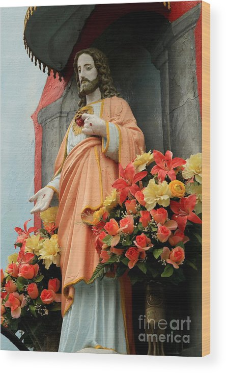 Jesus Wood Print featuring the photograph Jesus On Burano by Michael Henderson