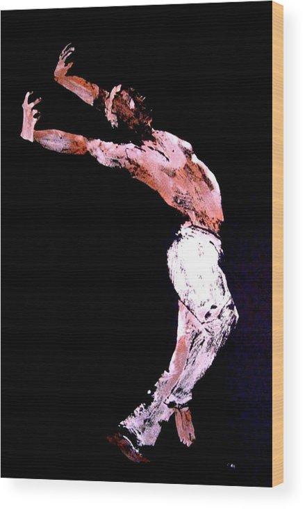 Dancer Wood Print featuring the painting Jive Dancer by Ana Bikic