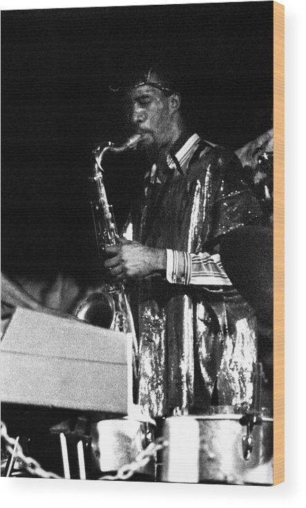 Sun Ra Arkestra At The Red Garter 1970 Nyc Wood Print featuring the photograph John Gilmore by Lee Santa