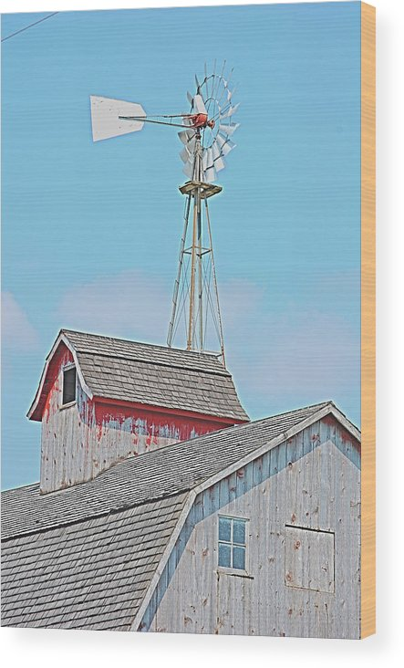 Kalona Wood Print featuring the photograph Kalona Barn by Jame Hayes
