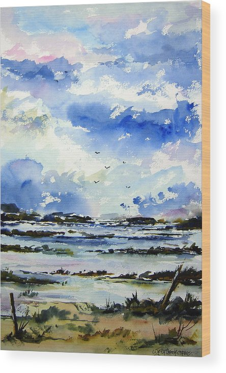 Landscape Wood Print featuring the painting Kerry Morning by Wilfred McOstrich