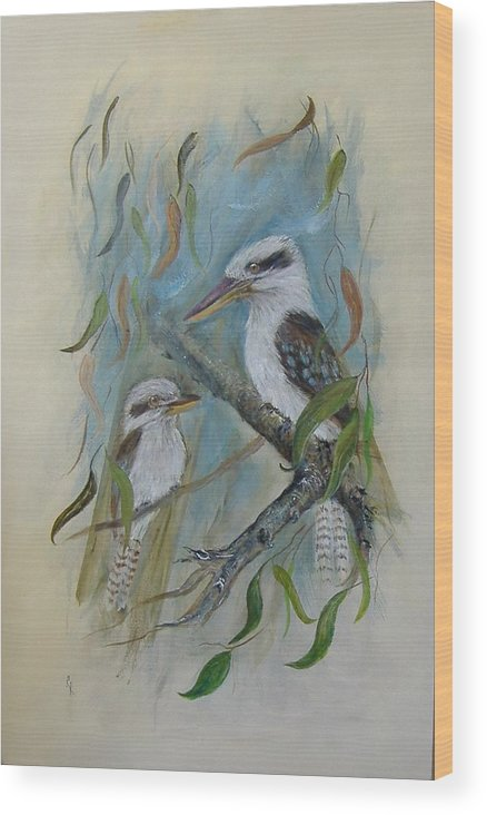 Birds Wood Print featuring the painting King Of The Woods by Rita Palm