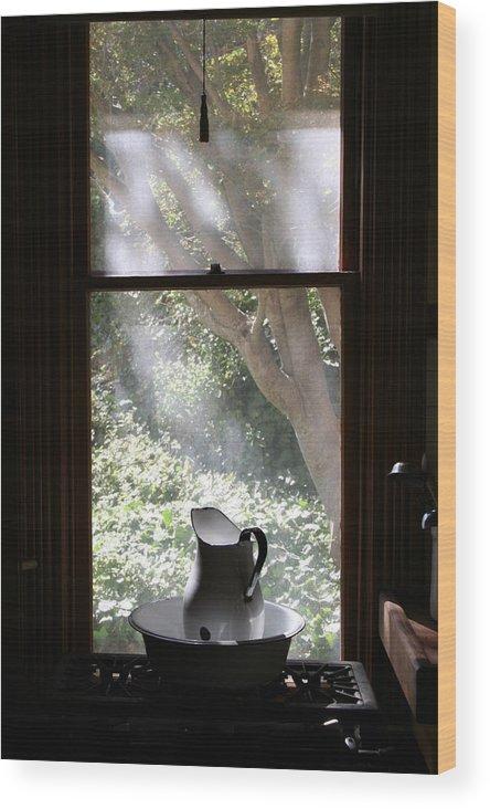 Still Life Wood Print featuring the photograph Kitchen Window by Brande Barrett