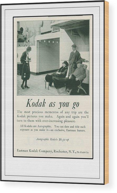 Kodak Camera Wood Print featuring the photograph Kodak As You Go by Rianna Stackhouse