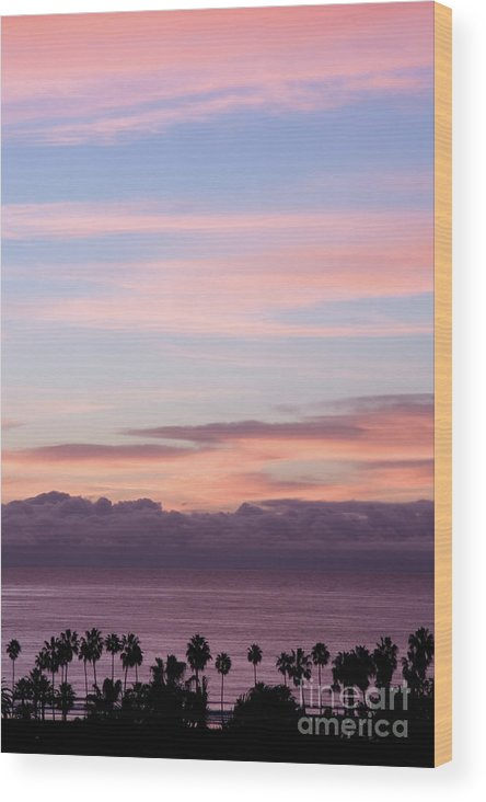 Nature Wood Print featuring the photograph La Jolla Shores In California by Julia Hiebaum