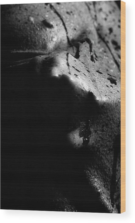 Nude Wood Print featuring the photograph Latex Alien by Pavel Jelinek