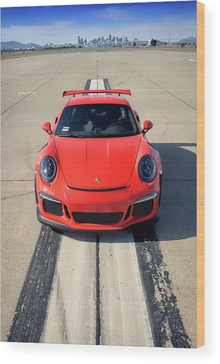 Cars Wood Print featuring the photograph Lava Orange #porsche 911 #gt3rs #print by ItzKirb Photography