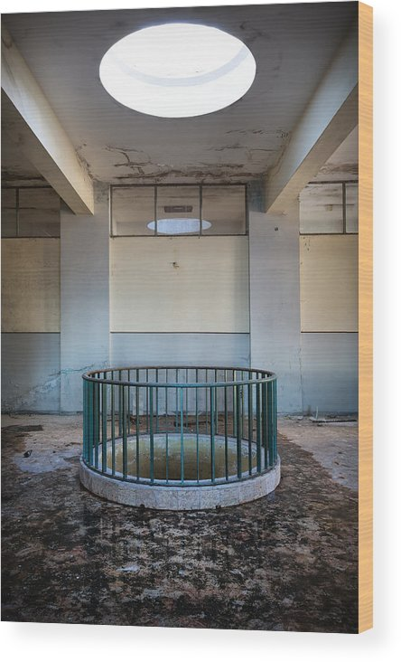 Boarding School Wood Print featuring the photograph Light Above The Well by Dirk Ercken