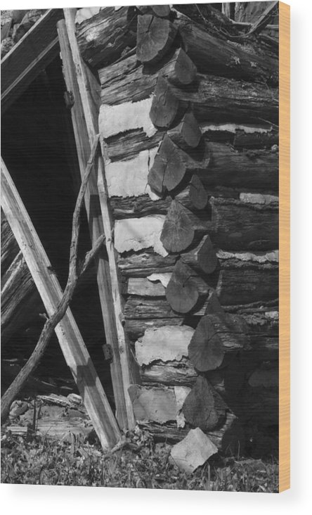 Wood Print featuring the photograph lloyd-shanks-barn-3BW by Curtis J Neeley Jr