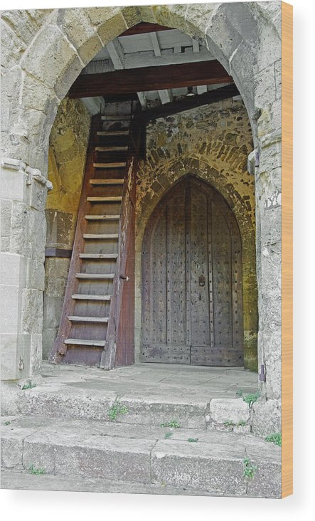 Isle Of Wight Wood Print featuring the photograph Main Entrance To St Mary's Church At Brading by Rod Johnson