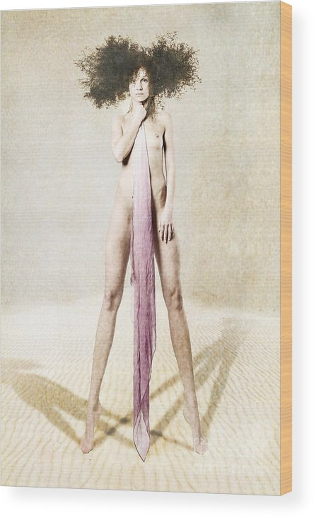 Wood Print featuring the photograph Mannequin by Zygmunt Kozimor