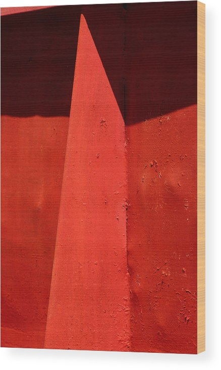 Red Wood Print featuring the photograph Mask by Art Ferrier
