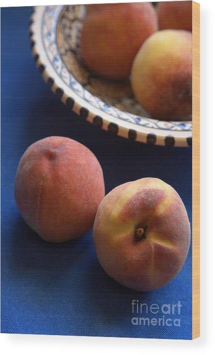 Crete Wood Print featuring the photograph Mediterrannean Peaches by Steve Outram