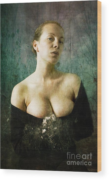 Wood Print featuring the photograph Melancholy by Zygmunt Kozimor