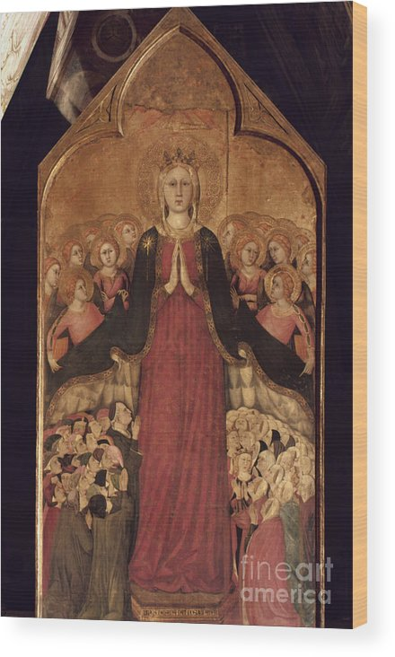 14th Century Wood Print featuring the photograph Memmi: Madonna In Heaven by Granger