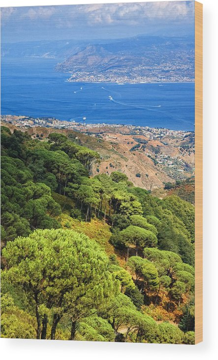 Italy Wood Print featuring the photograph Messina Strait - Italy by Silvia Ganora