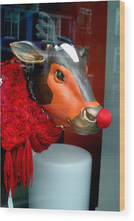 Jez C Self Wood Print featuring the photograph Mooving On by Jez C Self