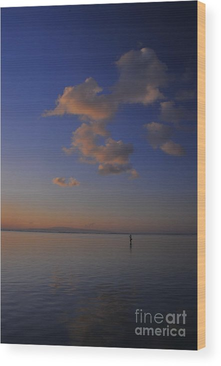 Morning Wood Print featuring the photograph Morning Sky by Wayan Suantara