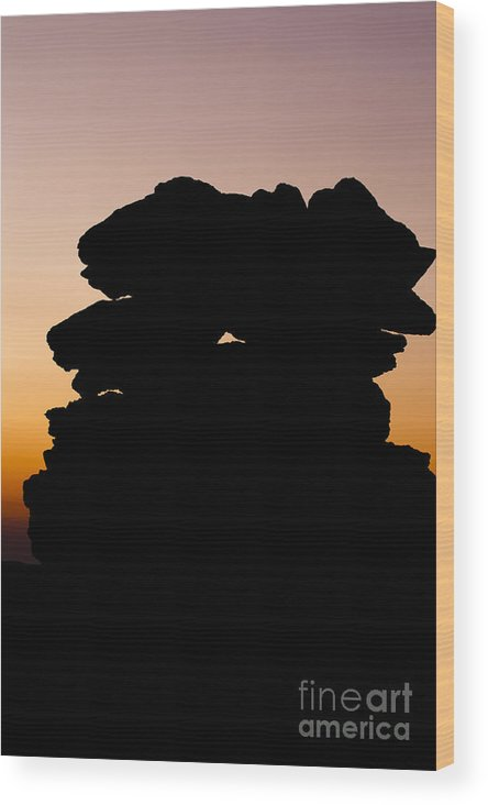 White Mountains Wood Print featuring the photograph Mount Washington - New Hampshire Usa Sunset by Erin Paul Donovan