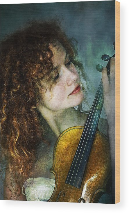 Girl Wood Print featuring the photograph Music My Love by Zygmunt Kozimor