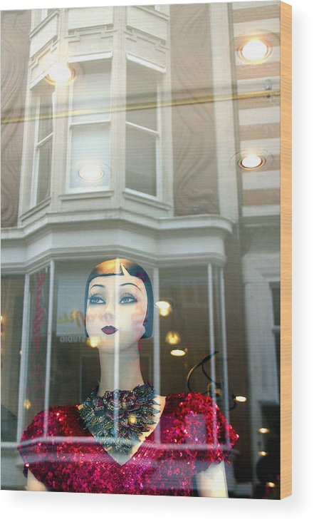 Jez C Self Wood Print featuring the photograph My Shop And I Say Who Comes In by Jez C Self