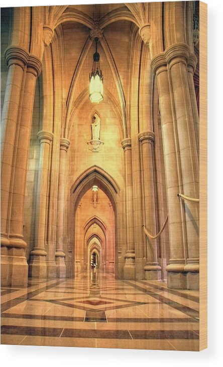 Church Wood Print featuring the photograph National Cathedral by Mitch Cat