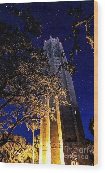 Landscape Wood Print featuring the photograph Night Tower by Kenny Brachle