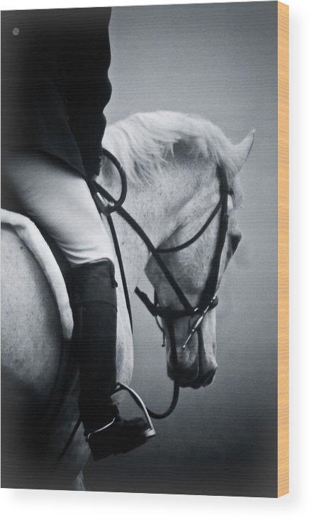 Horse Wood Print featuring the photograph Nobility by Hannah Breidenbach