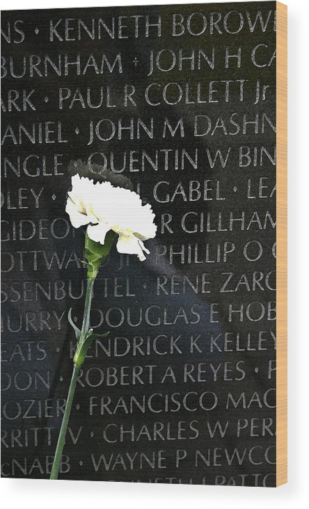 Vietnam Memorial Wood Print featuring the photograph Not Forgotten by Mary Haber
