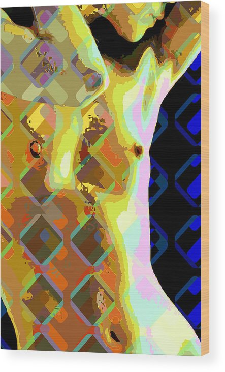 Nude Wood Print featuring the digital art Nude 1a by Scott Davis