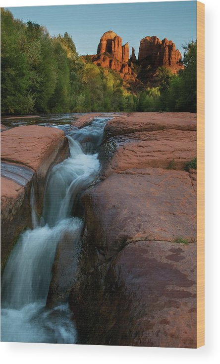Nature Wood Print featuring the photograph Oak Creek Beneath Cathedral Rock, Arizona by Dave Wilson