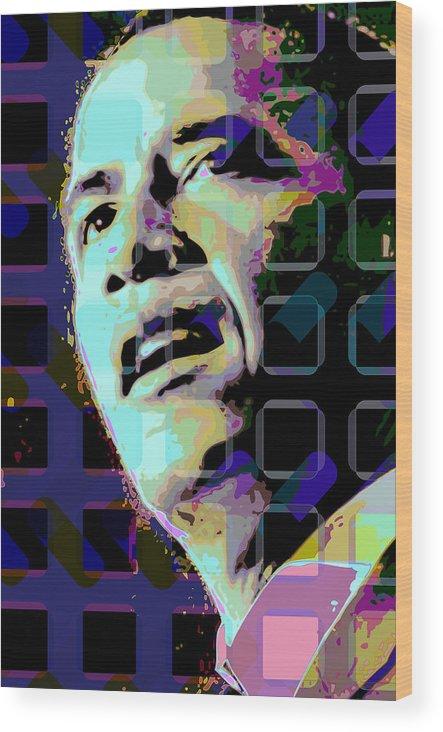 Obama Wood Print featuring the digital art Obama2 by Scott Davis