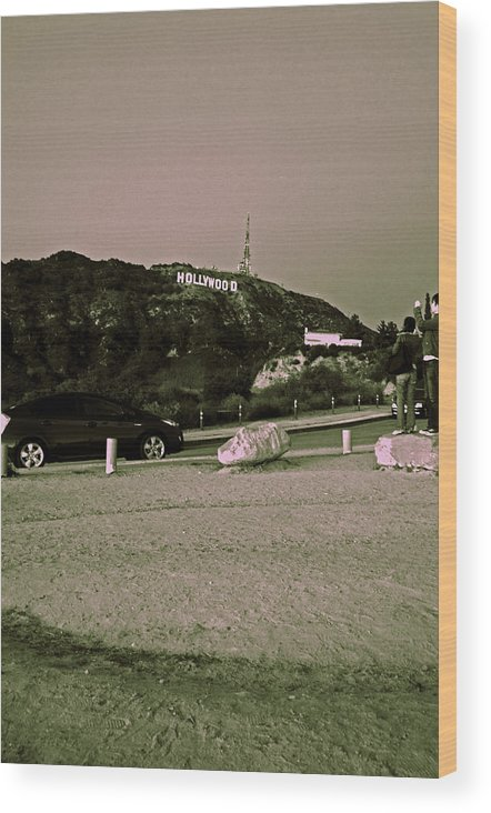 Hollywood Wood Print featuring the photograph Oh Hollywood. by Sarah Suvan