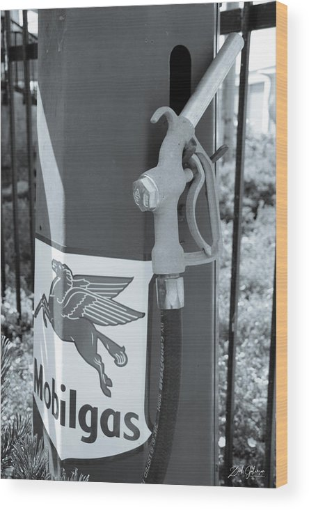 Old Gas Pump Wood Print featuring the photograph Old Gas Pump by Zach Johanson