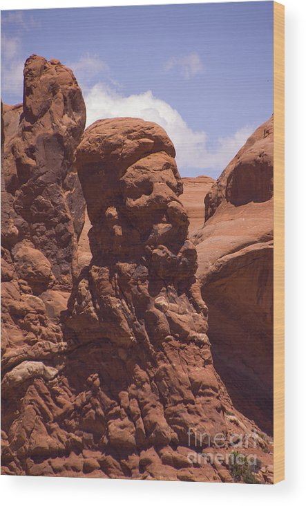 Rock Wood Print featuring the photograph Old Man Stone by Louise Magno