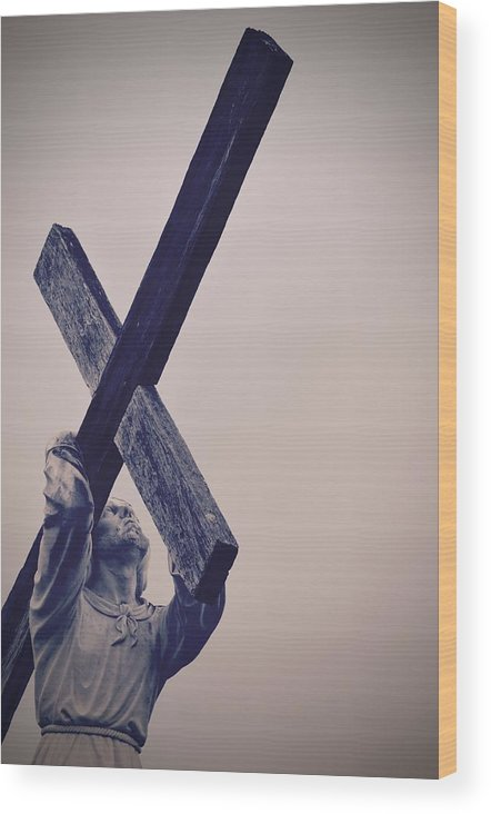 Jesus Wood Print featuring the photograph Old Rugged Cross by Holly Clyburn