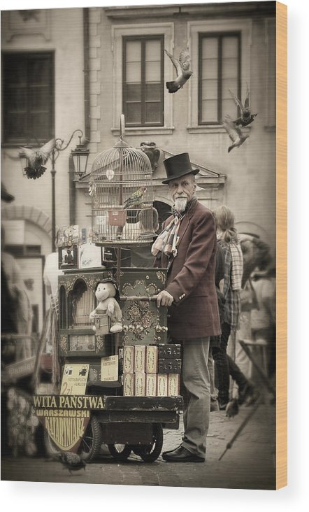 Street Wood Print featuring the photograph Organ Grinder by Viktor Korostynski