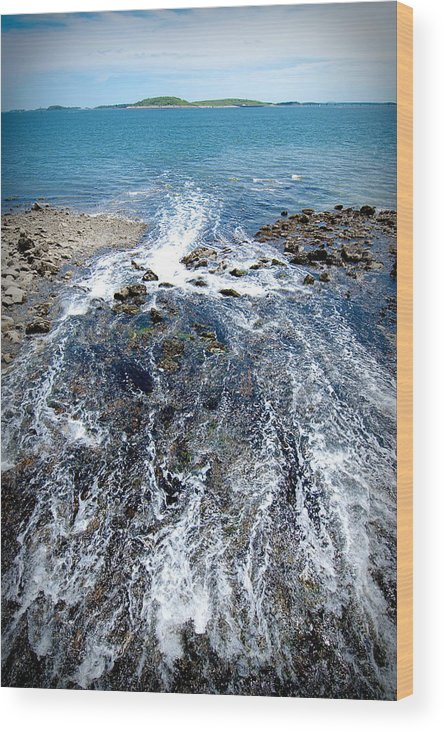 Ocean Wood Print featuring the photograph Out To Sea by Greg Fortier