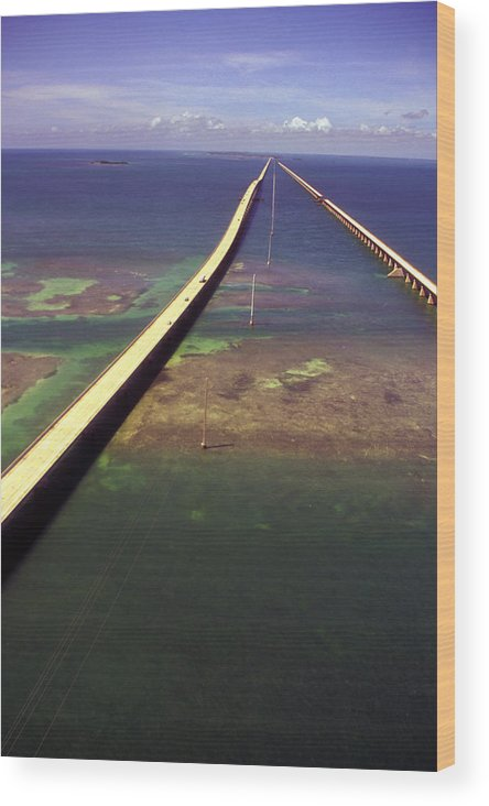 U.s. 1 Wood Print featuring the photograph Overseas Highway by Carl Purcell