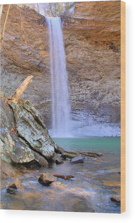 Ozone Wood Print featuring the photograph Ozone A 90 Foot Waterfall by Douglas Barnett
