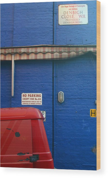 Jez C Self Wood Print featuring the photograph Park Thee Not by Jez C Self